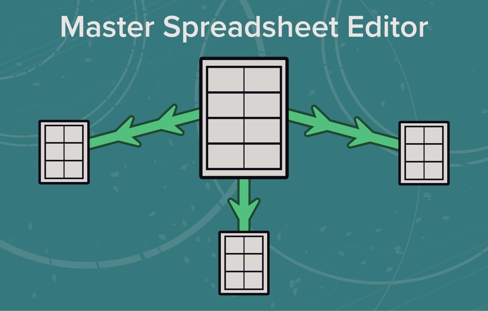 Master Spreadsheet Editor Icons