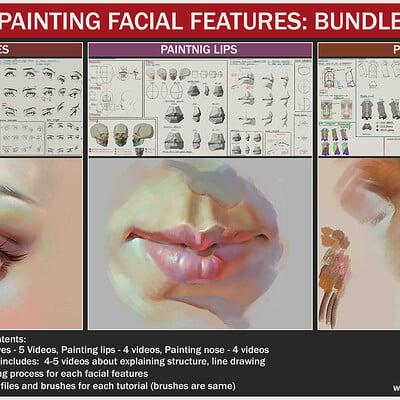 Painting facial features: Bundle
