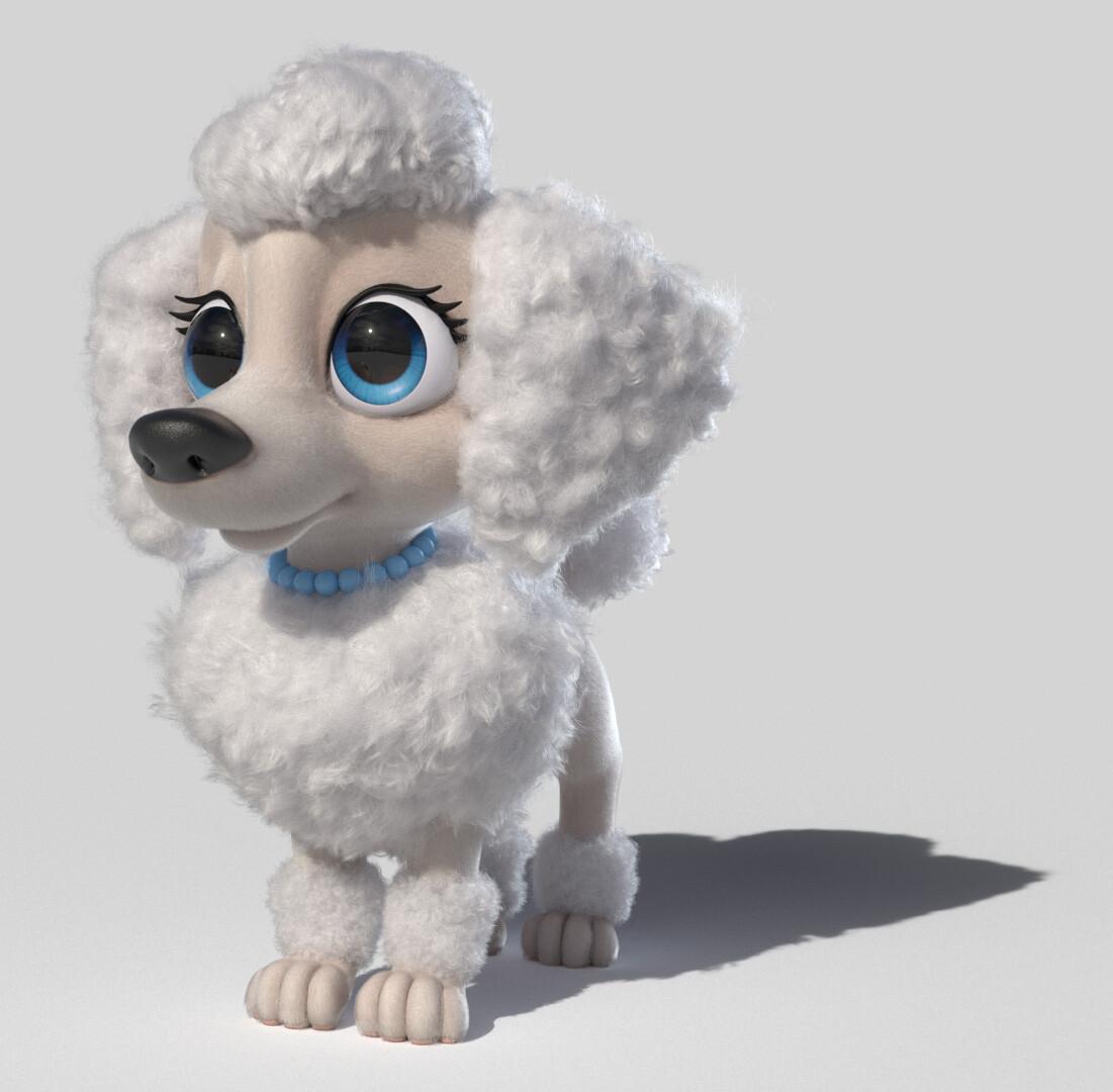 Grooming/Lookdev for Poodle (2018 - Shoguns Studios)