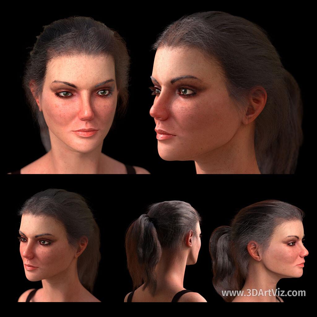 Antonia, Photorealistic 3D Character