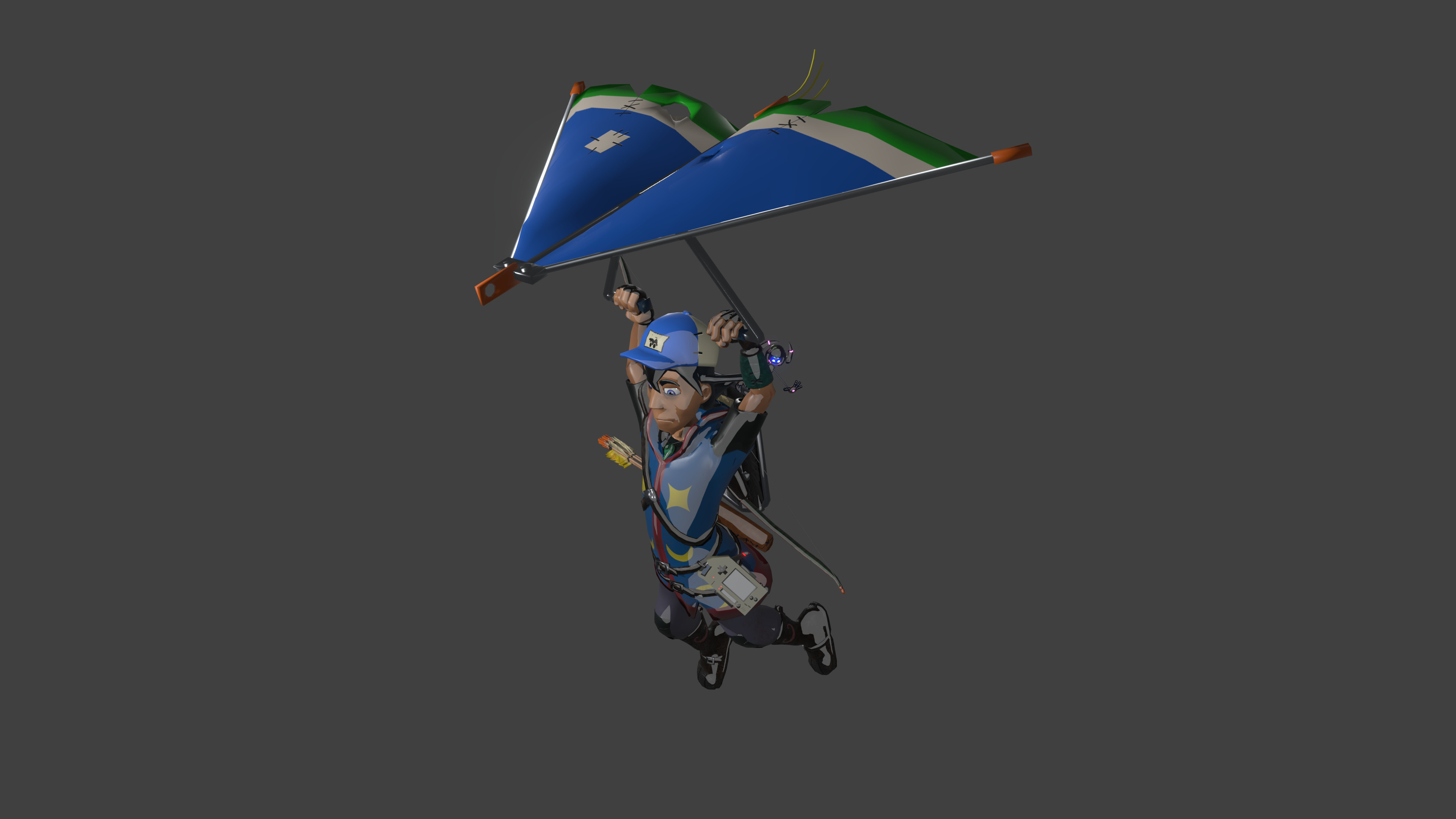 I feel like a paraglider is necessary for all open world characters