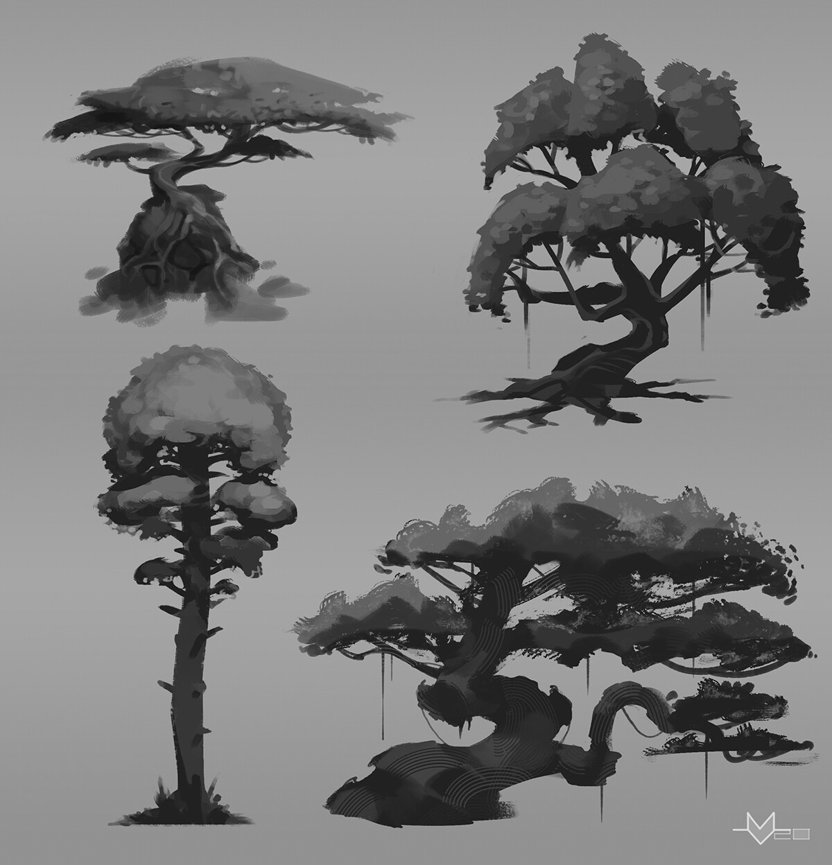 Values quick sketches.