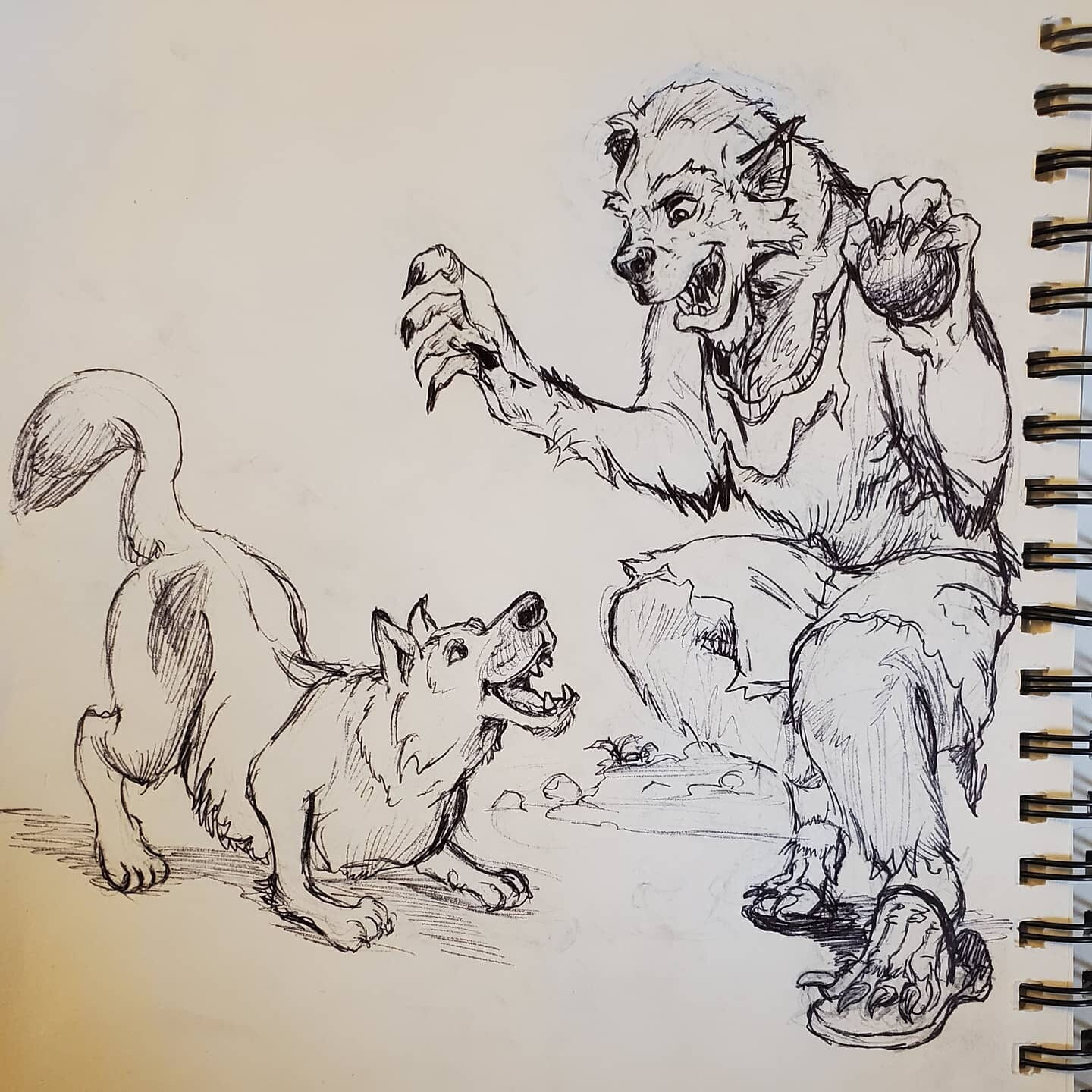 "Inktober day 25 ""Buddy"""