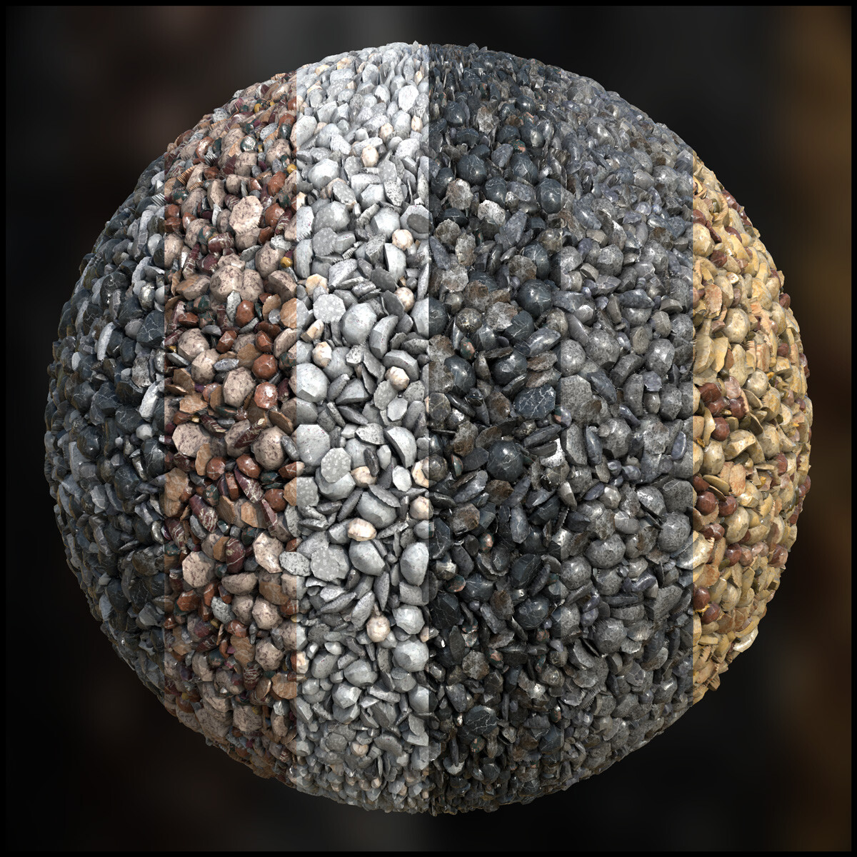 Granite Gravel Substance