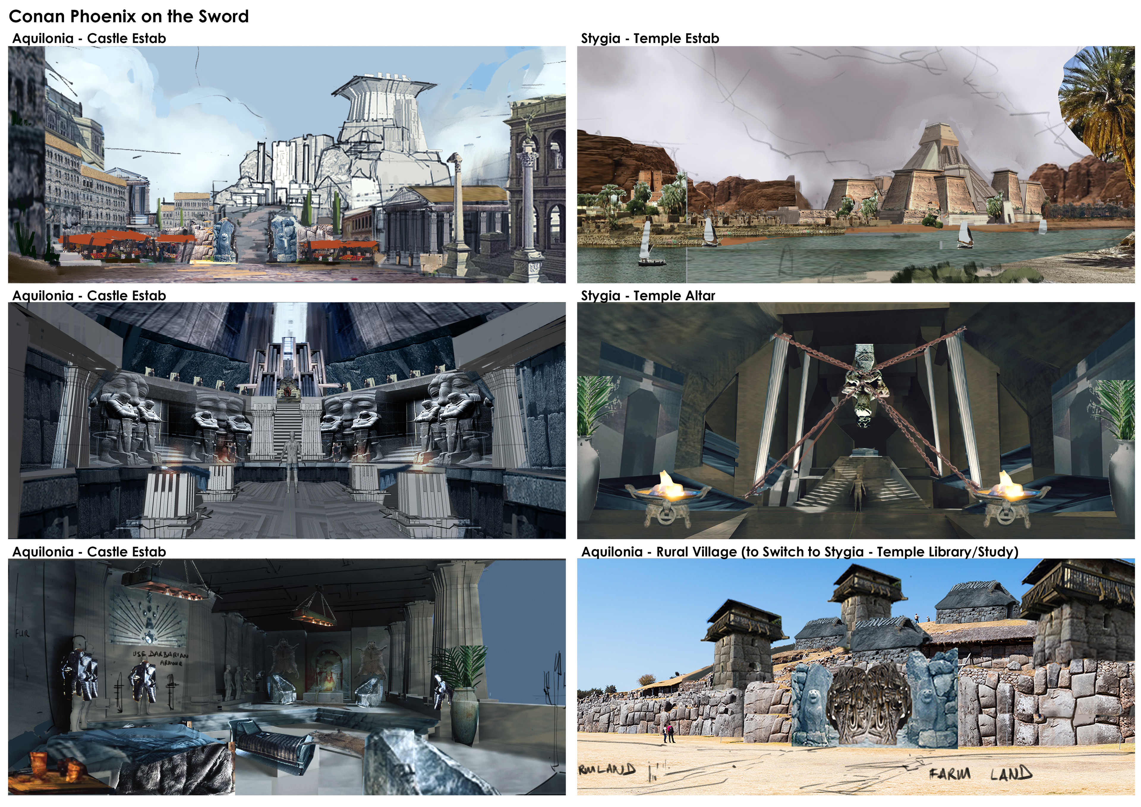 Consolidation of initial sketches for all locations