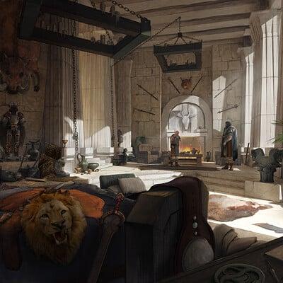 Conan - Aqualonia King Conan's Chamber