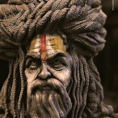 Surajit sen hindu saint3 5 digital sculpture surajitsen oct2020a1 l