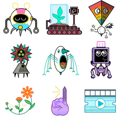 Adrian kendall robots and icons
