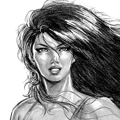 Pablo romero axe girl pencils scan l
