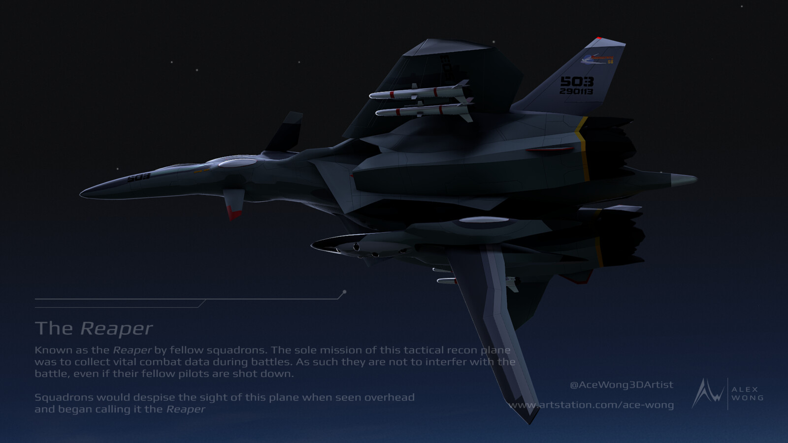 The Reaper - I created this render shot to try and portray how fellow pilots would see the aircraft in the series