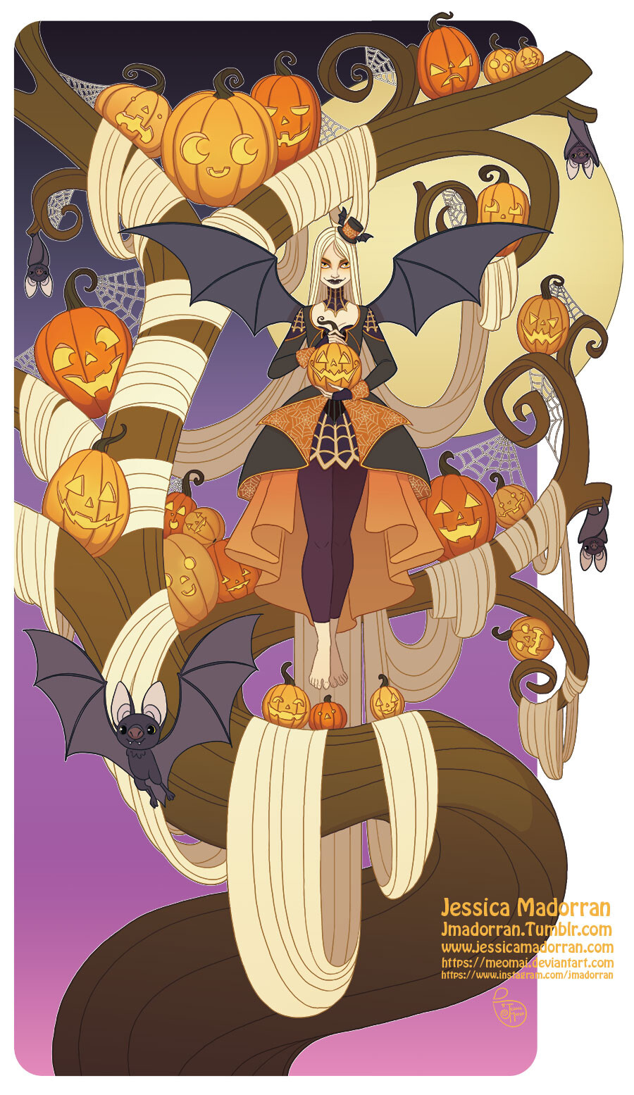 Illustration - Halloween Tree Lady 2.0