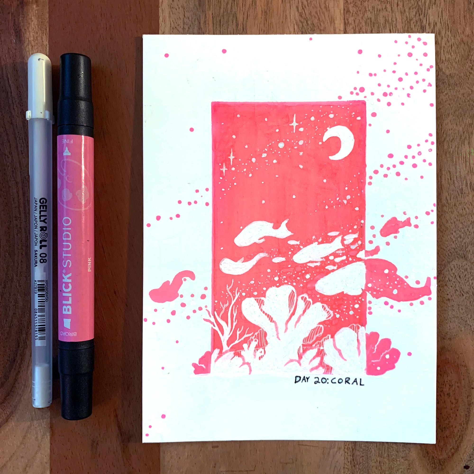 (Day 20: Coral) Swimmin' on Starlight