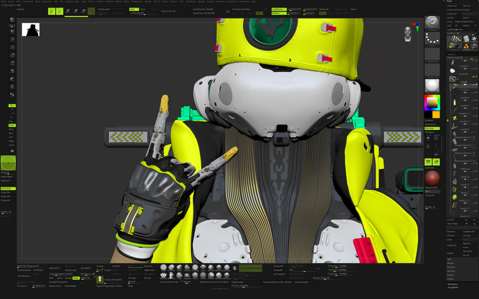 ZB screenshot 1 - some design updates to his hand and details around his outfit
