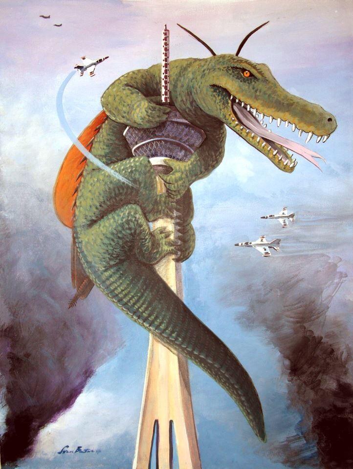 Crocroach acrylic painting
