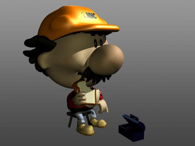 Mr. U-Do 3D model. Lightwave 5.6