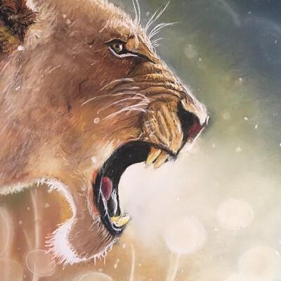 Reg art de vie roaring lioness