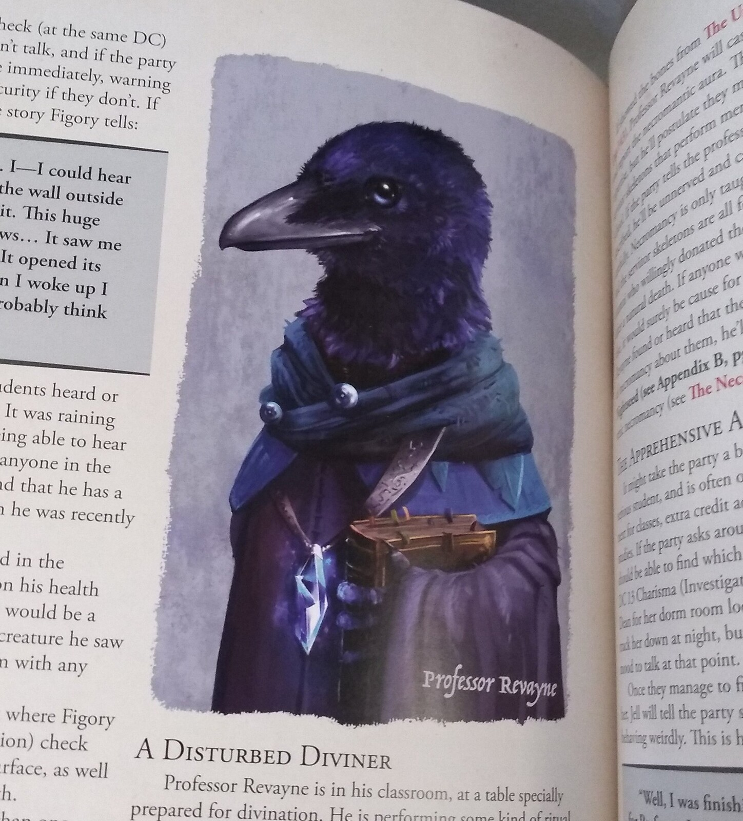 Illustration in the Humblewood Book