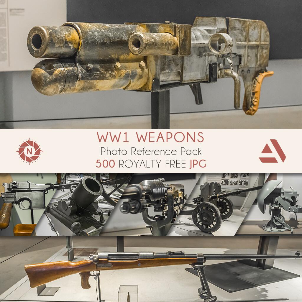 Photo Reference Pack: WW1 Heavy Guns  https://www.artstation.com/a/165921