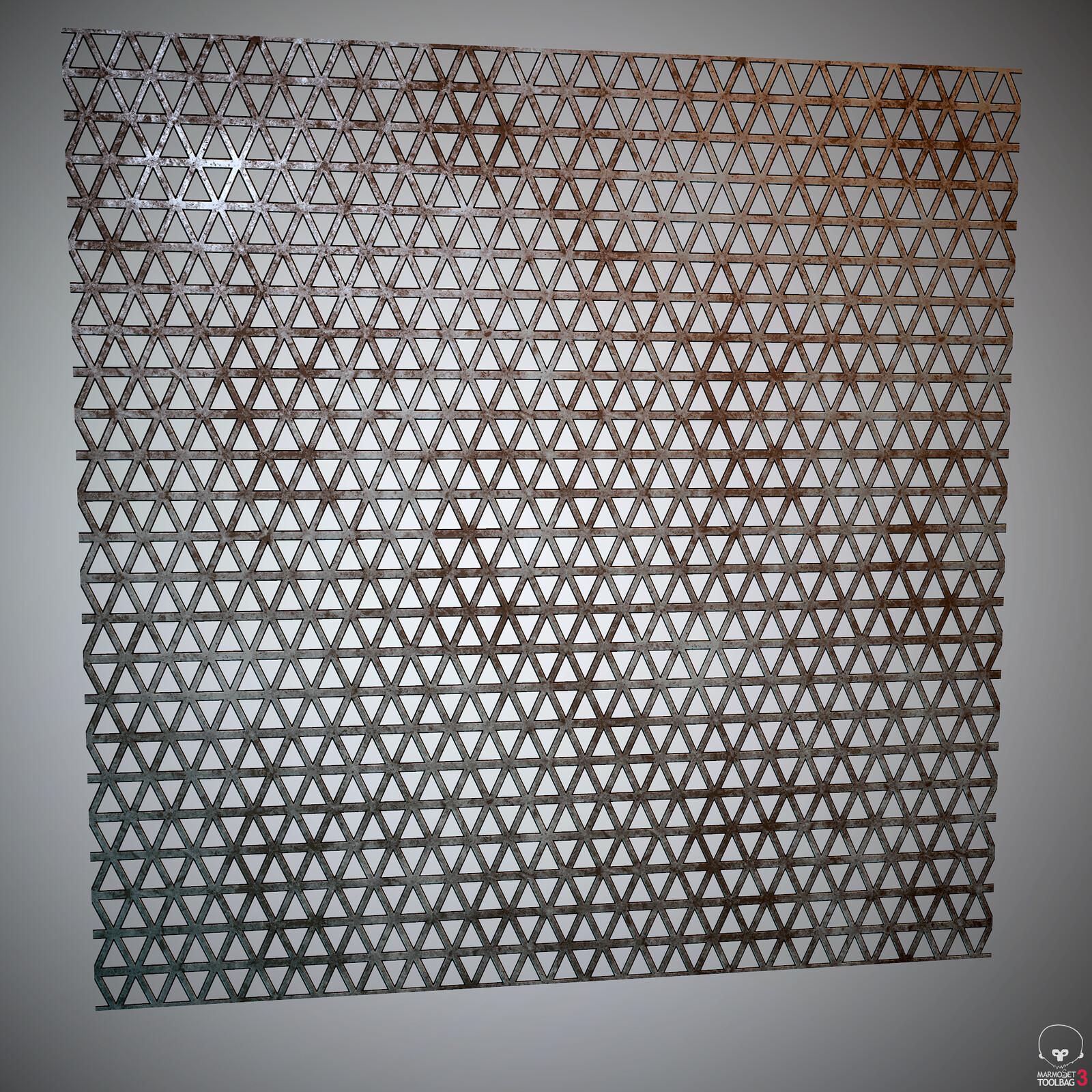 Floor grate, rendered in Marmost