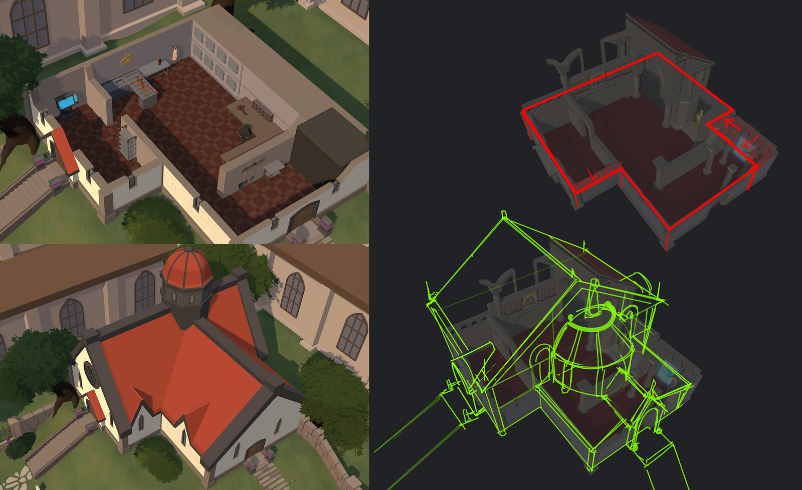 Redesigning original geo without altering critical paths and navmesh/pathfinding