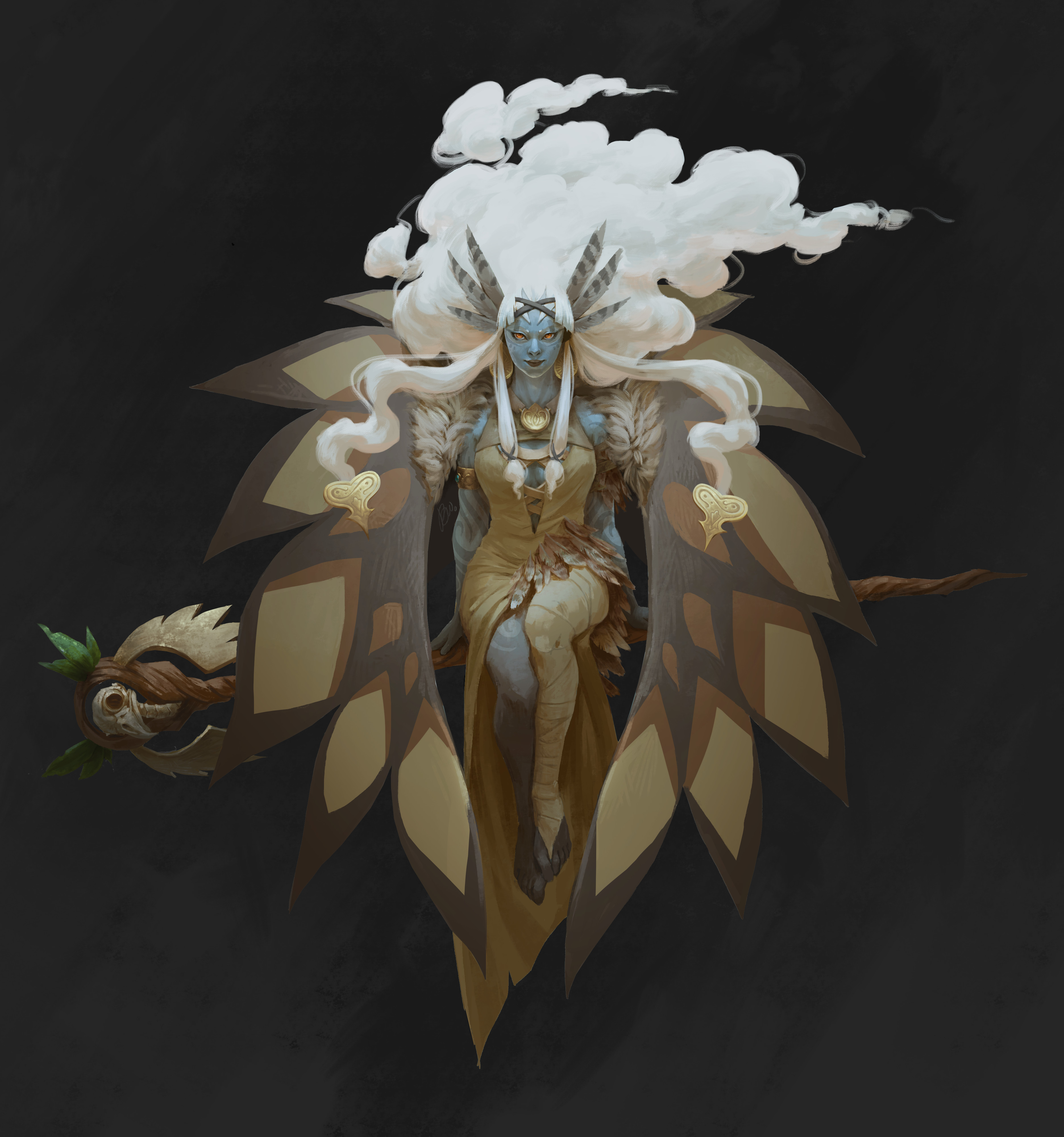 with her cloak I took a bit of a graphical approach. Thought it was fun