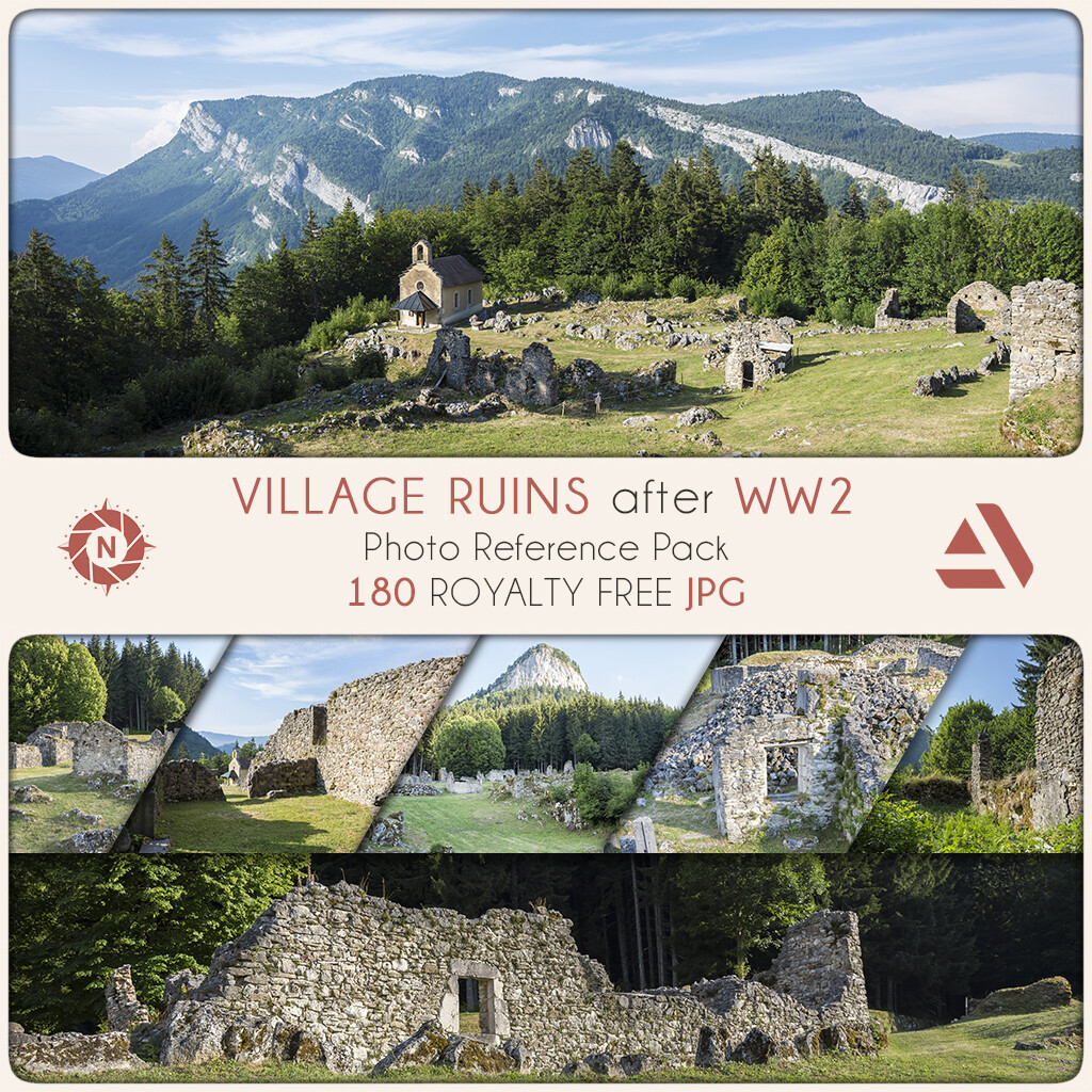 Photo Reference Pack: Village Ruins WW2  https://www.artstation.com/a/165907