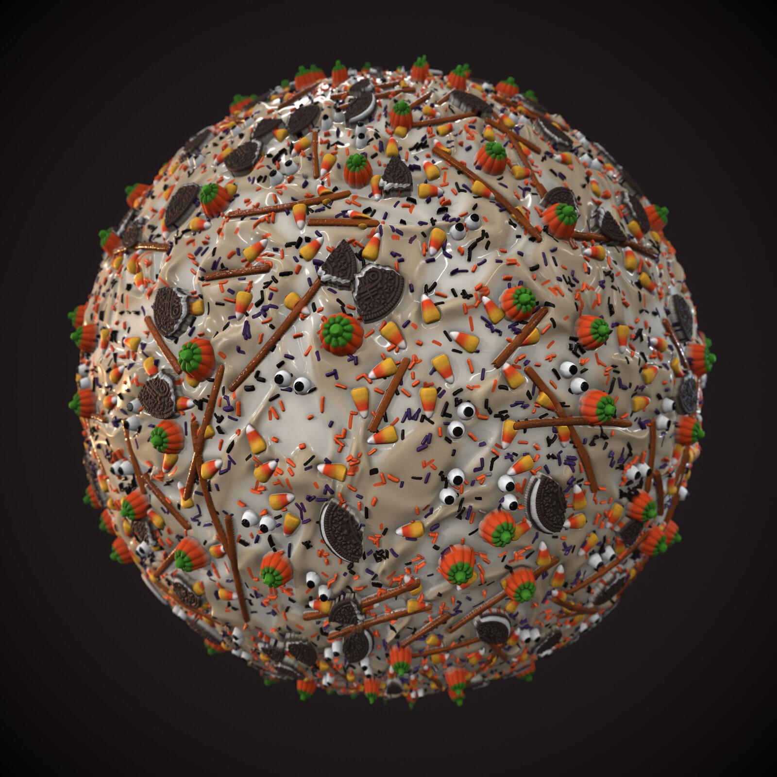 Halloween Candy Bark Material