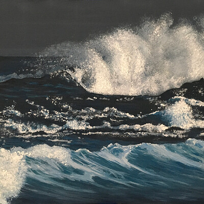Mariana abreu water painting on canvas px