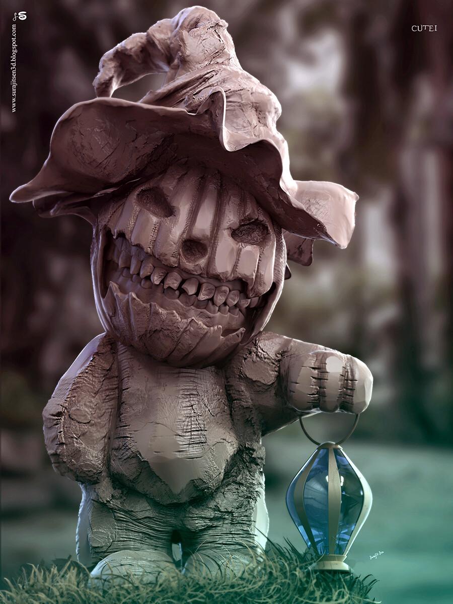 Jack-o'-lantern Digital Sculpture From my #halloweenseries2020 Background music- #hanszimmermusic