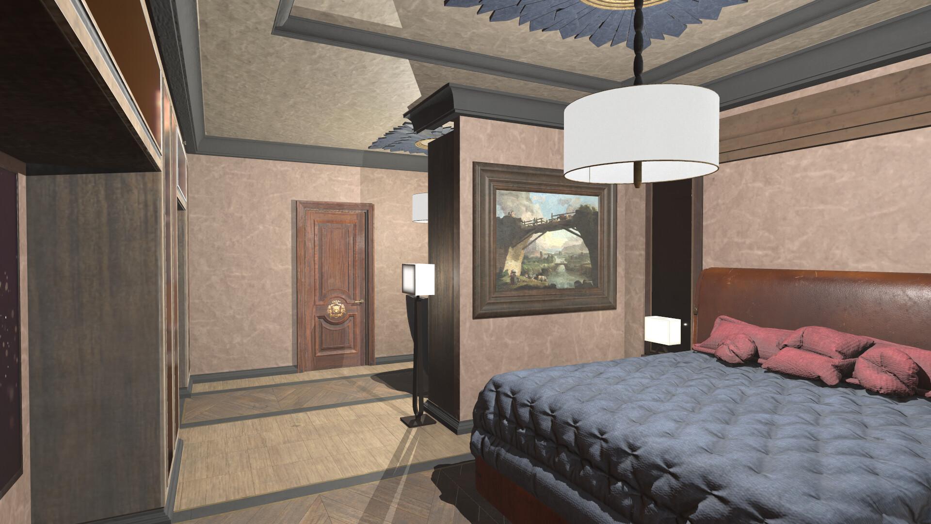 Artstation Bedroom On The Second Floor Marmoset Anton Yurevich