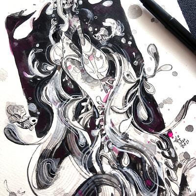 Sillyjellie ellie vertical mermaid2