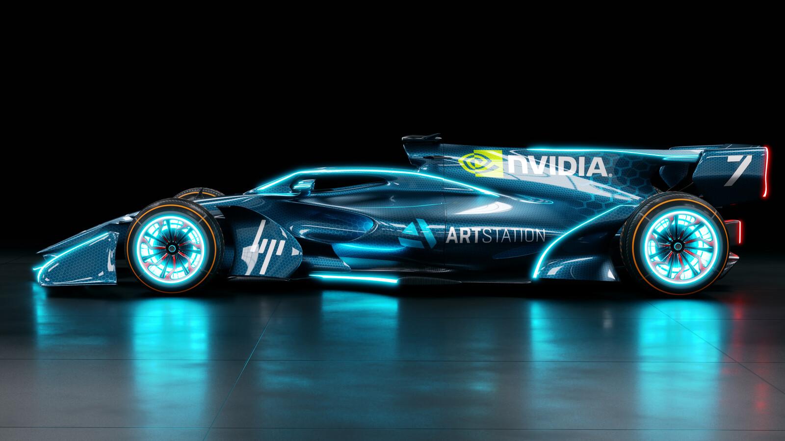 Futuristic F1 Car