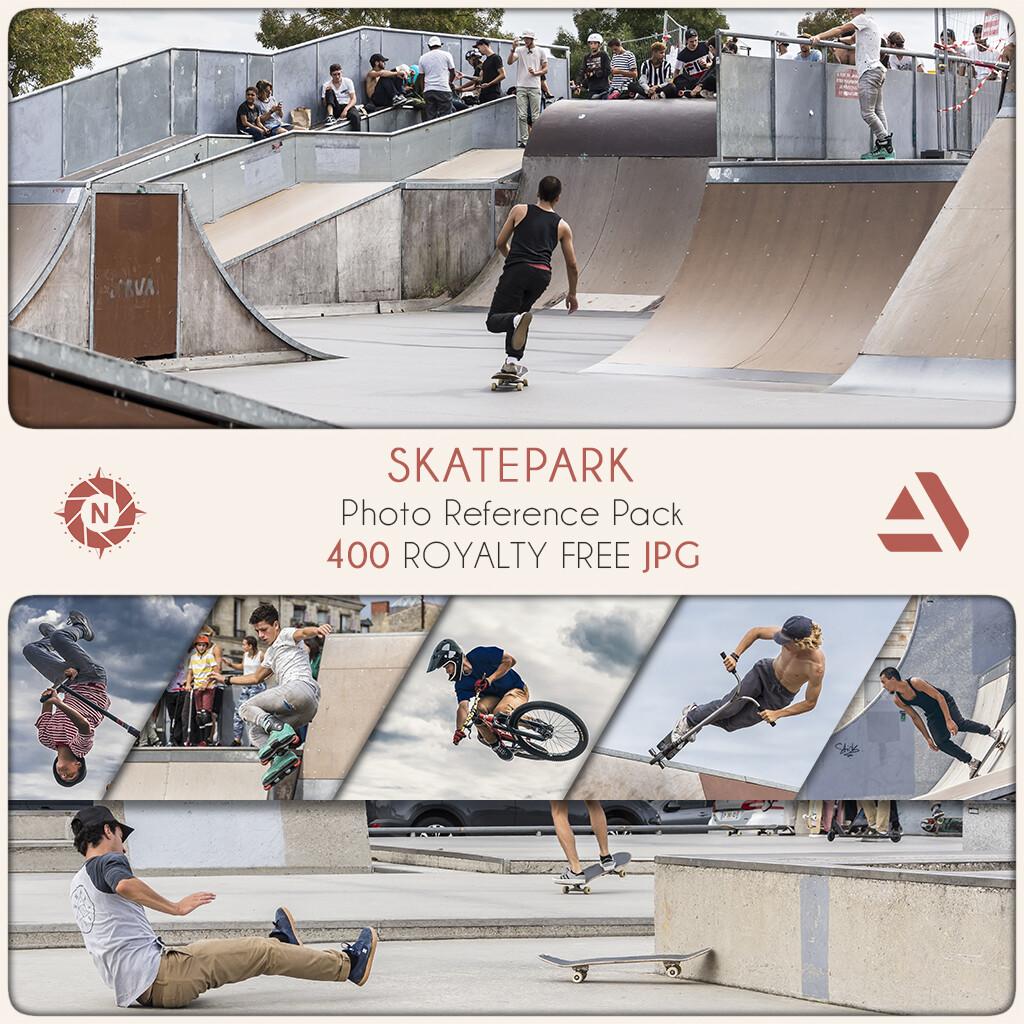 Photo Reference Pack: Skatepark  https://www.artstation.com/a/165846