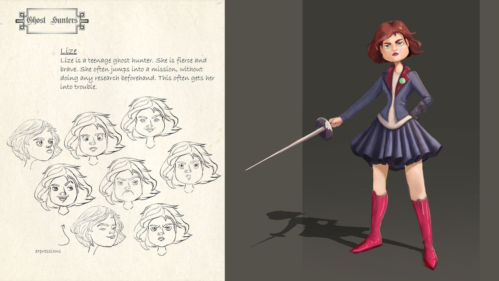 Lize, character design