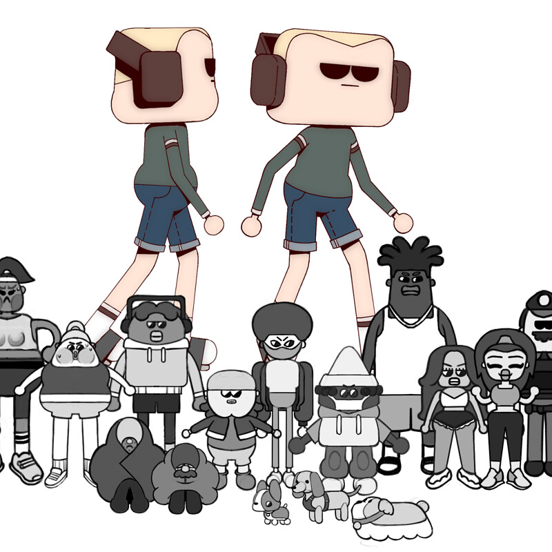 Character Lineup -  2020 Gif Project