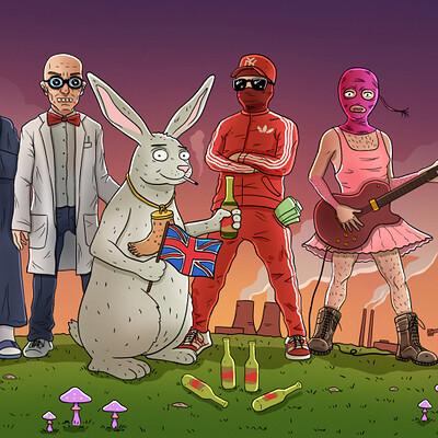 Bändi Plakati Illustratsioon