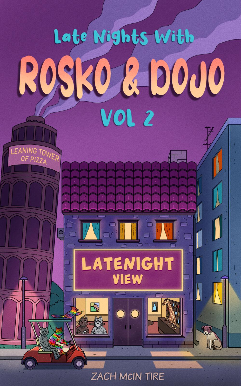 Lasteraamatu illustratsioon Rosko & Dojo