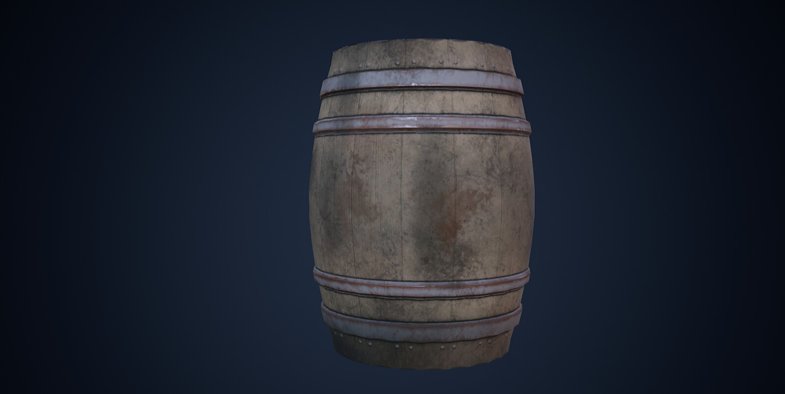 A Barrel (Painted with Substance)