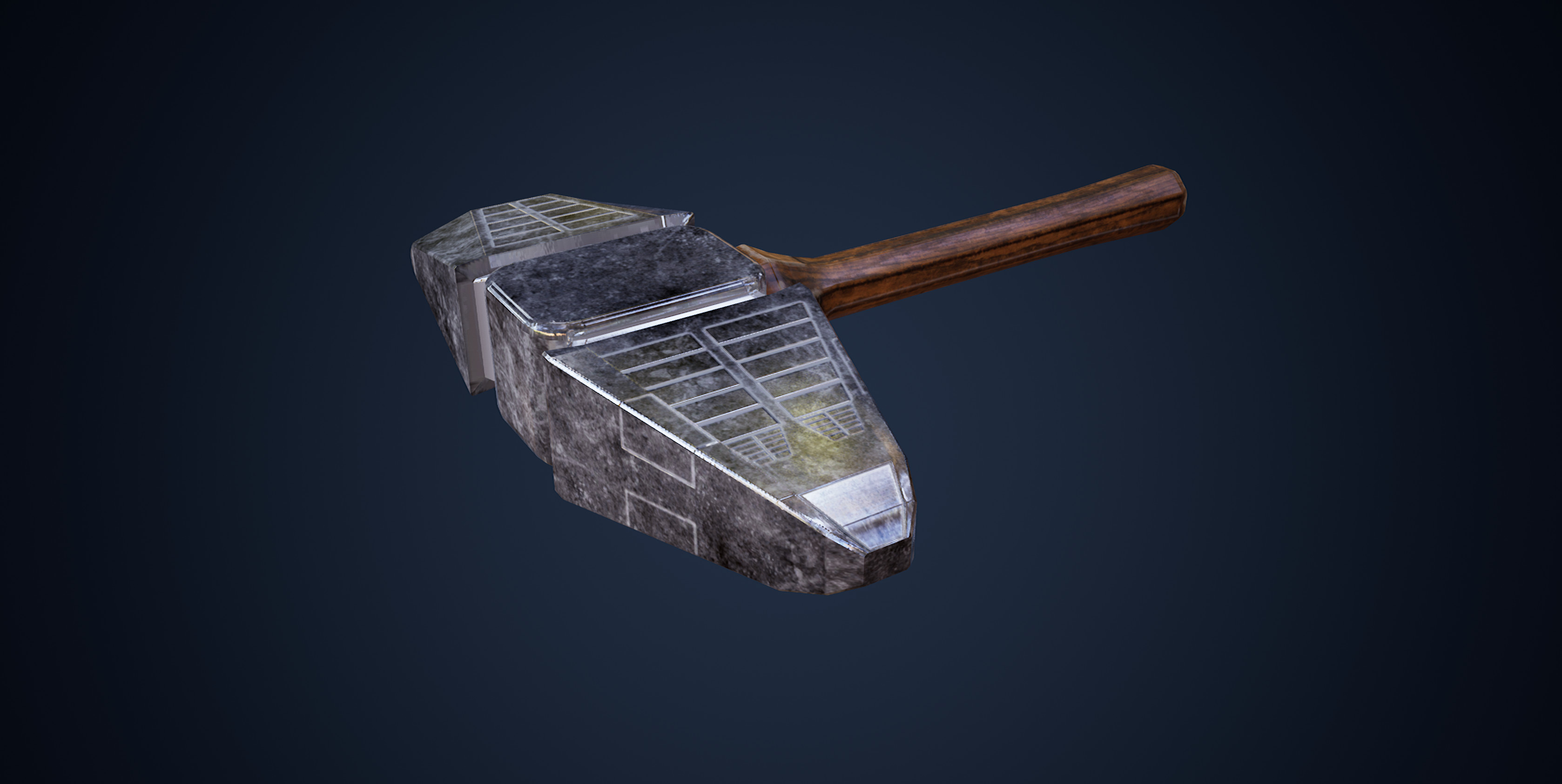 A Wood & Metal Mallet (Painted with Substance)