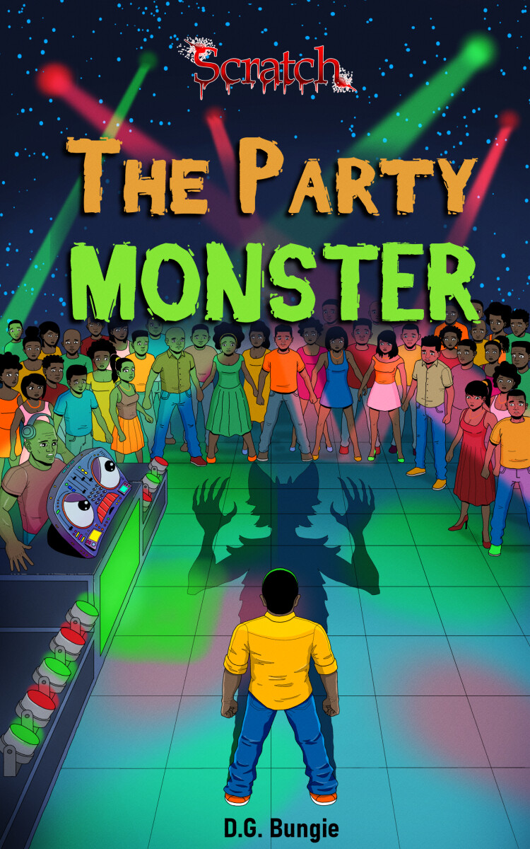 The Party Monster raamatu kaane illustratsioon