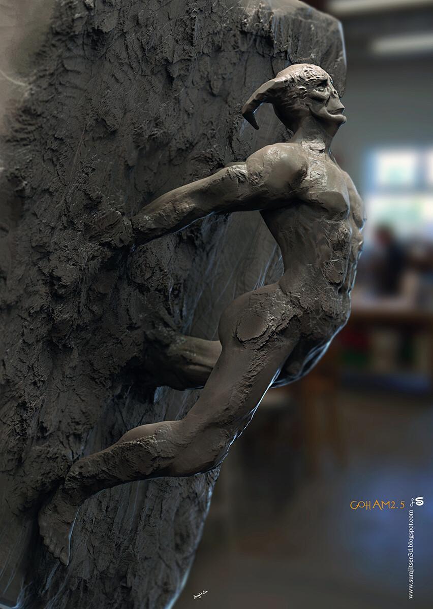 Goham2.5 Digital Sculpture One of my free time quick blocking.. Background music- #hanszimmermusic