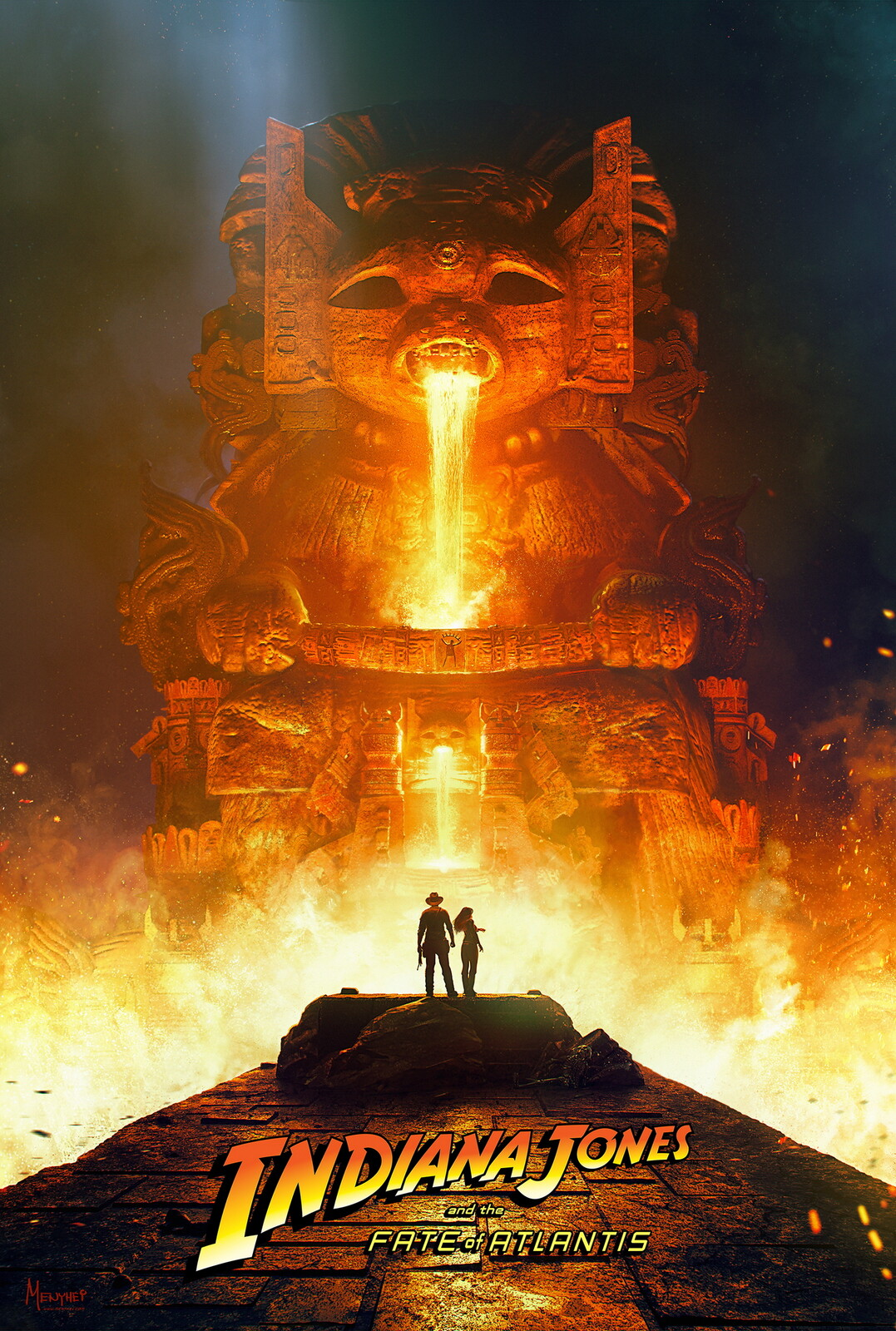 Indiana Jones and the Fate of Atlantis fan poster