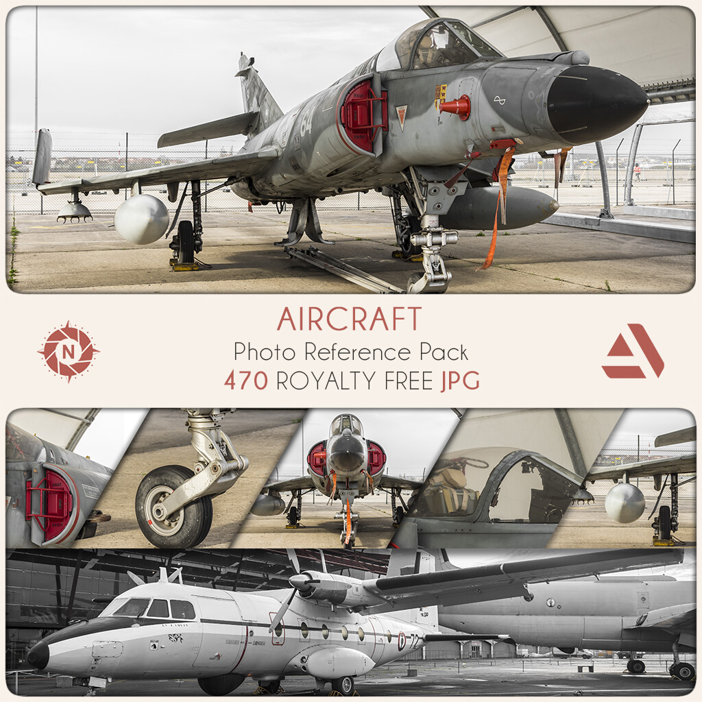 Photo Reference Pack: Aircraft  https://www.artstation.com/a/165931