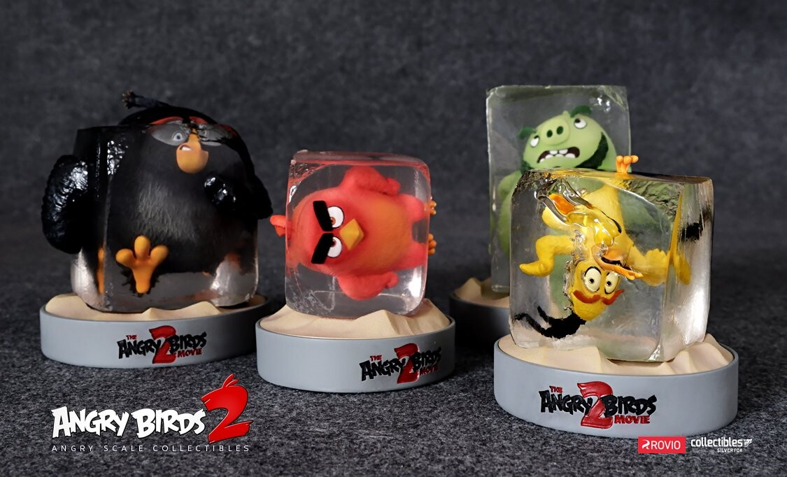 Angry Birds glass all together, designed by Yacine BRINIS
