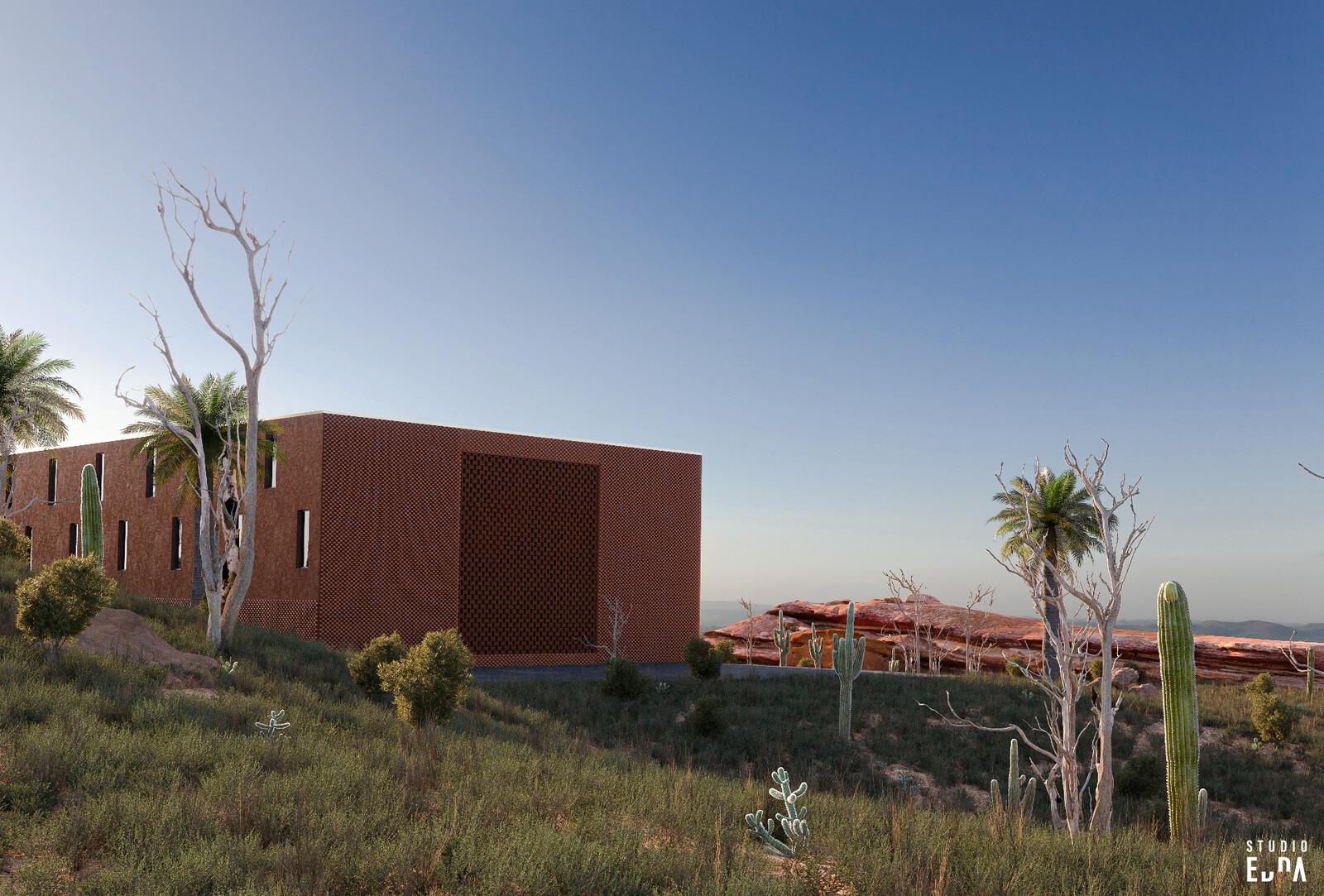 Studio Edna - CG Exterior - Indian Ocean Resort