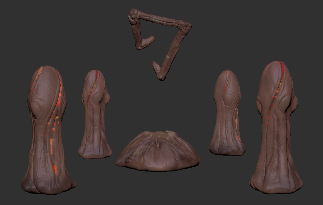 Assets created in ZBrush.