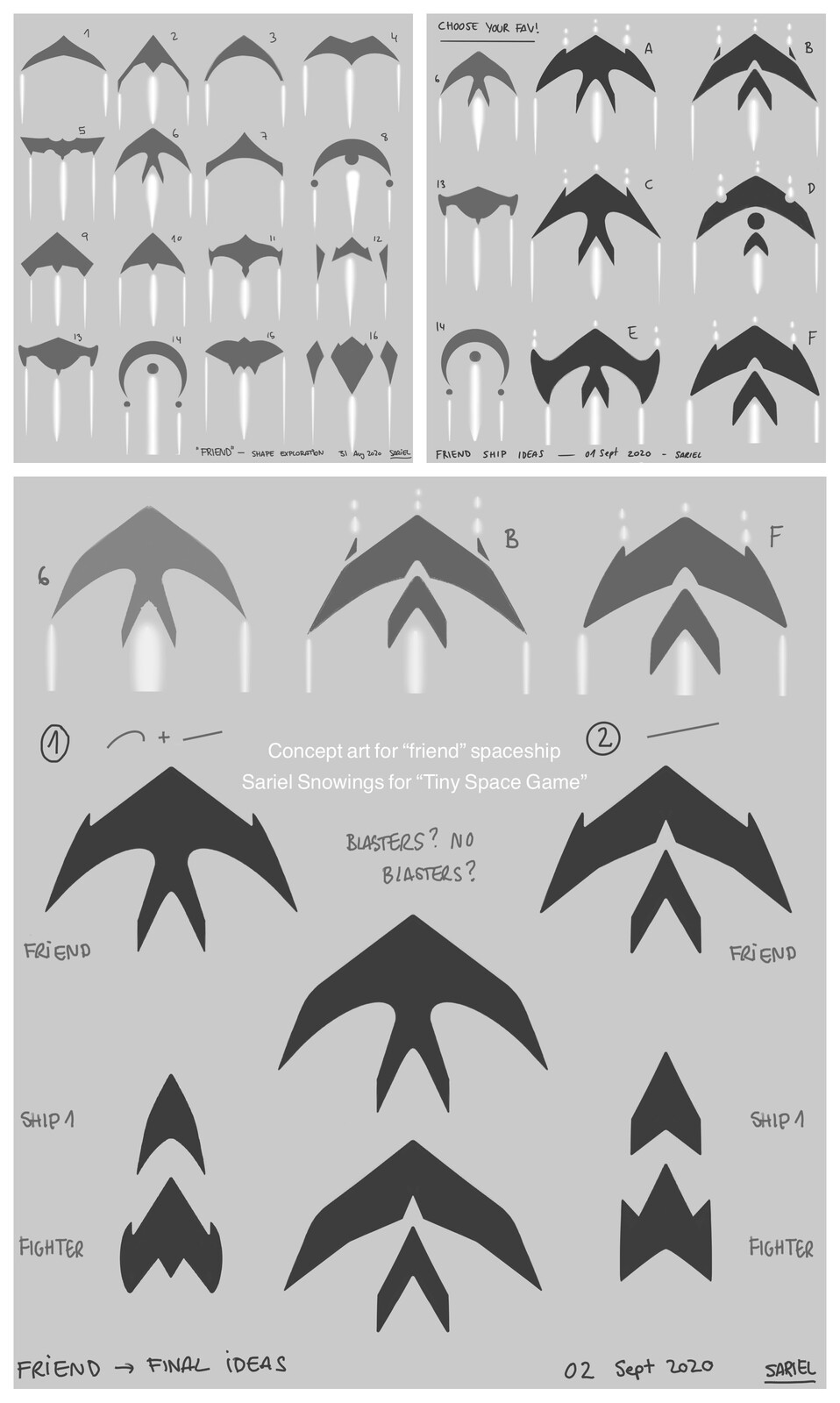 """""""The friend"""" shape ideas and concept"""