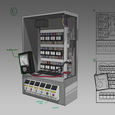 Rexel bartolome electrical box rendered