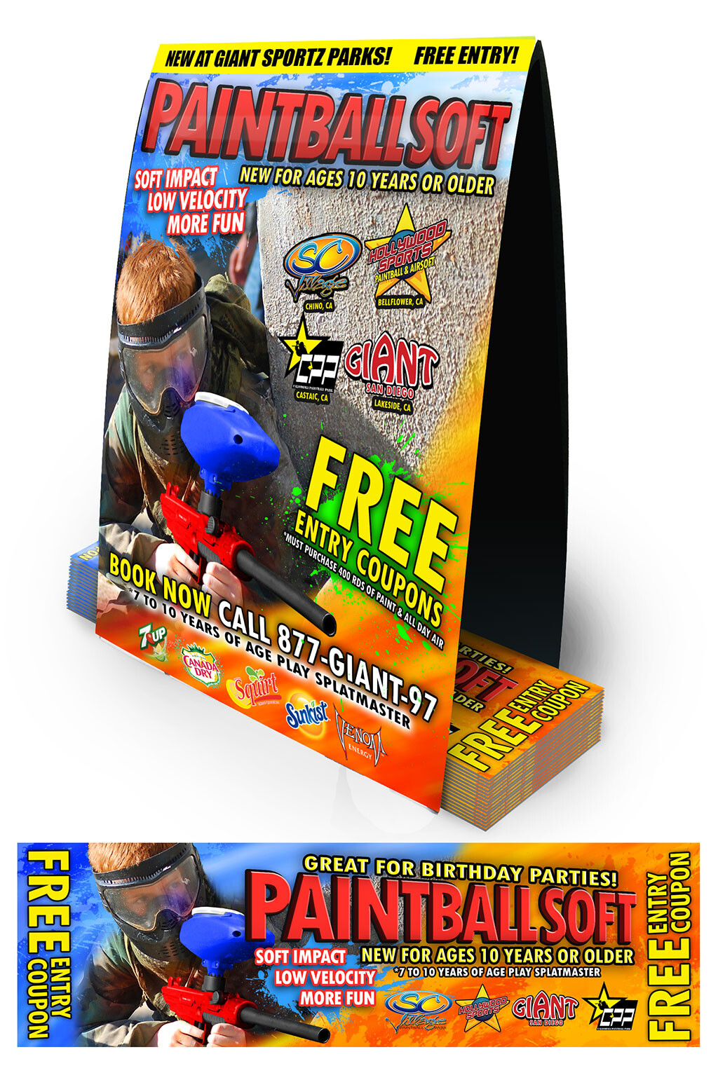 Paintball Soft Counter Display w/ Coupons