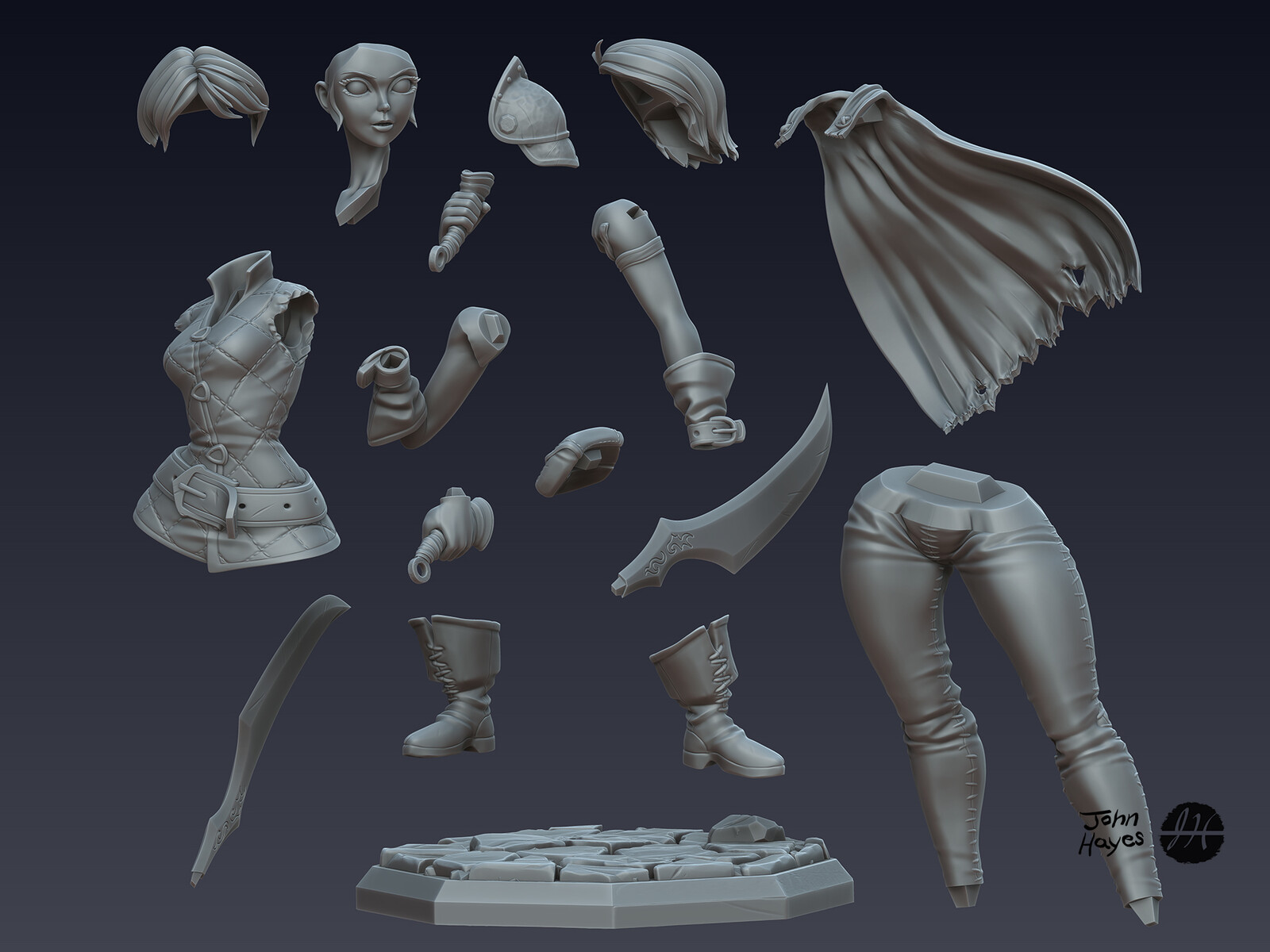 "Zbrush part for 3D print ""test""."